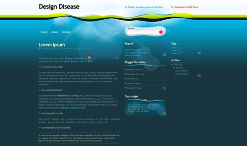 design-disease-blogger-template