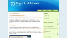 Azul Brillante Blogger Template