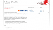 Is Simple Blogger Template