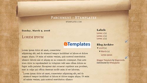 parchment blogger template btemplates