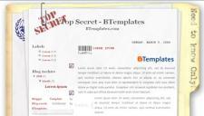 Top Secret Blogger Template