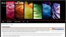 Rainbow Drops Blogger Template