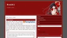 RedA1 Blogger Template