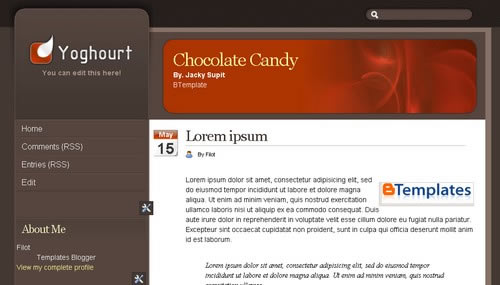 Chocolate Website Templates Free Download Chocolate Candy Free Download