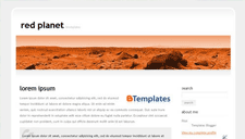 Redplanet Blogger Template