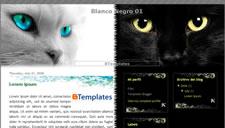 Blanco Negro 01 Blogger Template