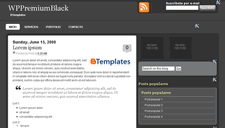 WP Premium Black Blogger Template