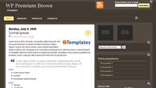 WP Premium Brown Blogger Template