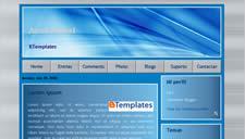 Azul Metal Blogger Template