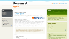 Fervens A Blogger Template