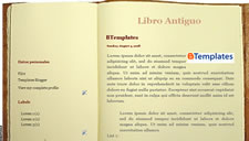 Libro Antiguo Blogger Template
