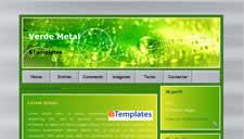 Verde Metal Blogger Template