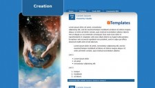 Creation Blogger Template