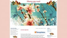 Flores em você Blogger Template