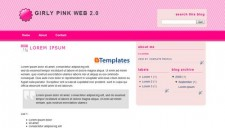 Girly Pink Web 2.0 Blogger Template