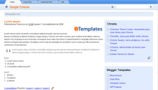 Google Chrome Blogger Template