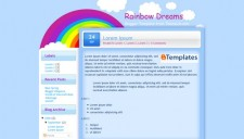 Rainbow Dreams Blogger Template