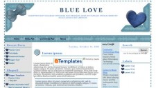 Blue Love Blogger Template