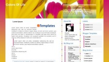 Colors of life Blogger Template