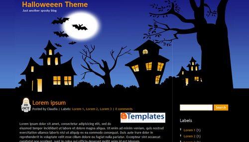 Halloween theme blogger template btemplates live demo maxwellsz