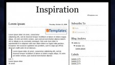 Inspiration Blogger Template