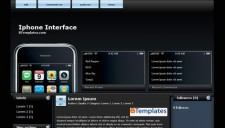 Iphone Interface Blogger Template