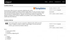 Stripped Blogger Template