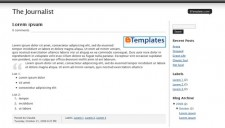 The Journalist Blogger Template