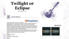 Twilight or Eclipse Blogger Template