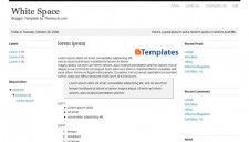 White Space Blogger Template