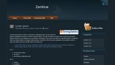 Zanblue Blogger Template