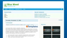 Blue Weed Blogger Template