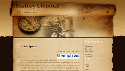 history channel blogger template btemplates