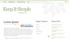 Keep It Simple Blogger Template