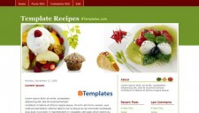 Recipes Blogger Template