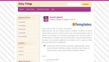 Shiny Things Blogger Template