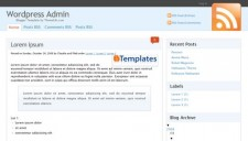 WordPress Admin Blogger Template