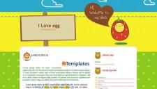 I Love Egg Blogger Template