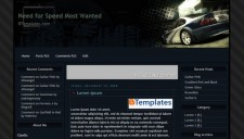 Need for Speed Blogger Template