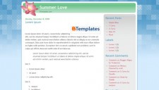 Summer Love Blogger Template