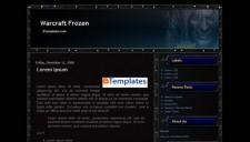 Warcraft Frozen Blogger Template