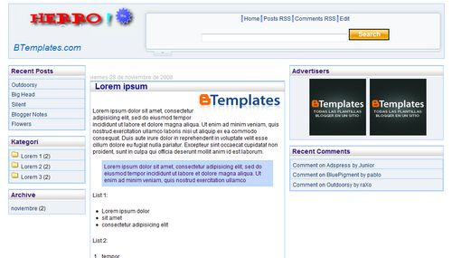 Template Blog Yahoo