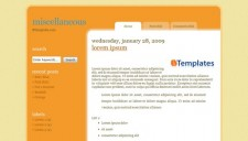 Miscellaneous Blogger Template
