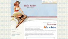 Hello Sailor Blogger Template