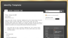 Identity Blogger Template