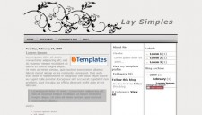 Lay Simples Blogger Template
