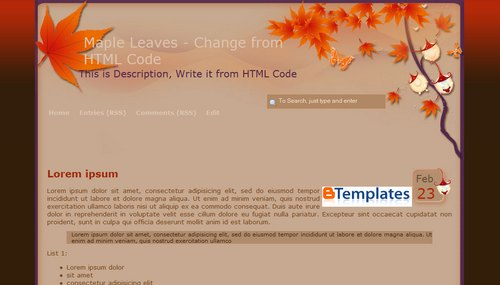 Blogger tricksblogger templates free blogger templates blogger nature blogger templatered leaves pronofoot35fo Images