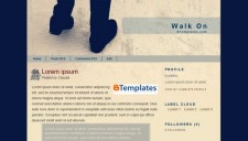 Walk on Blogger Template