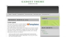 Gadget Theme Blogger Template