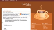 Hot Coffee Blogger Template